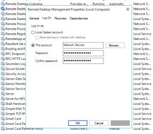 Serviciul Remote Desktop Management